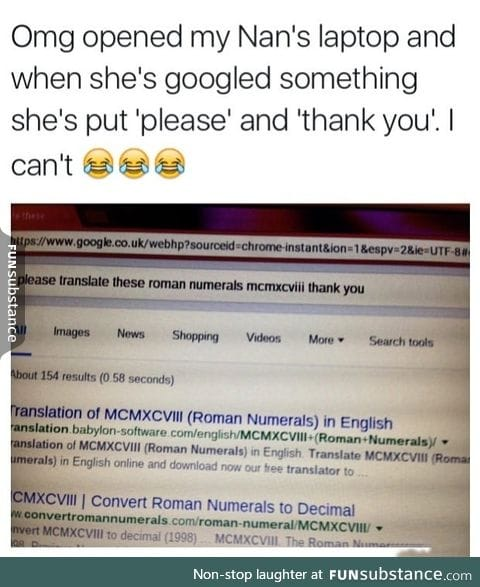 Grandma uses google
