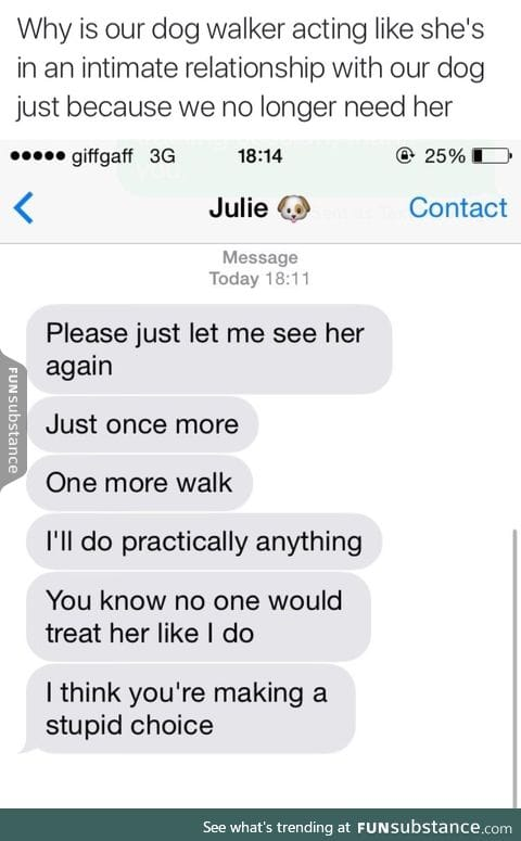 i mean, i'd do the same thing as julie
