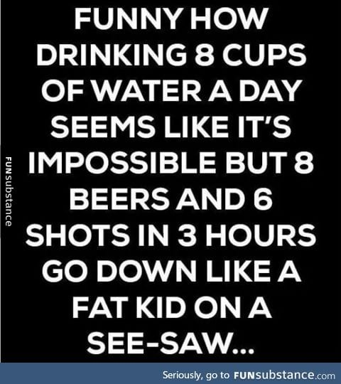 Chugging helps though