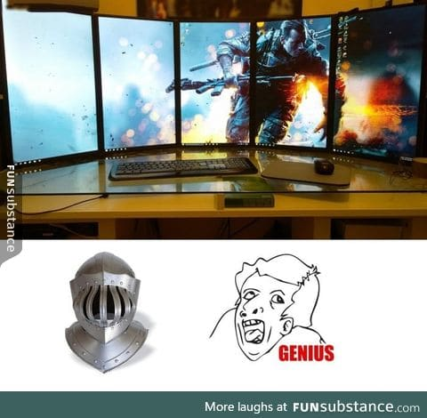 What I think of whenever I see one of these multi-screen setups