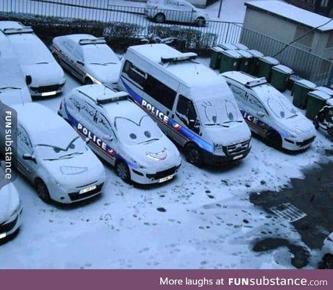 Winter vandalism done right