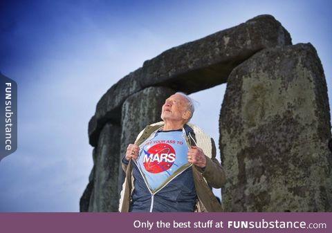 Buzz Aldrin visiting Stonehenge