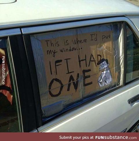 Dinkleberg stealing windows...