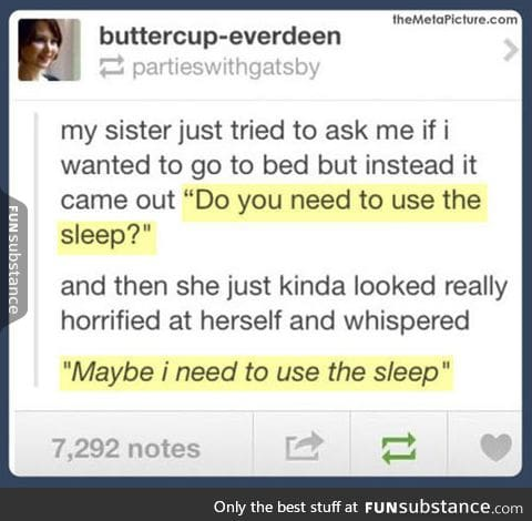 Need to use the sleep?