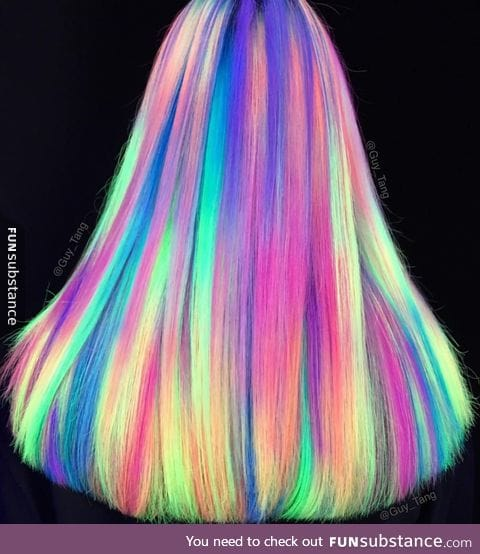 Blacklight hair color by hairstylist Guy Tang