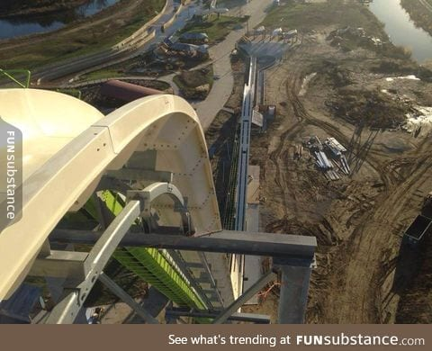 I went on this today :0 world's tallest waterslide. Scary af