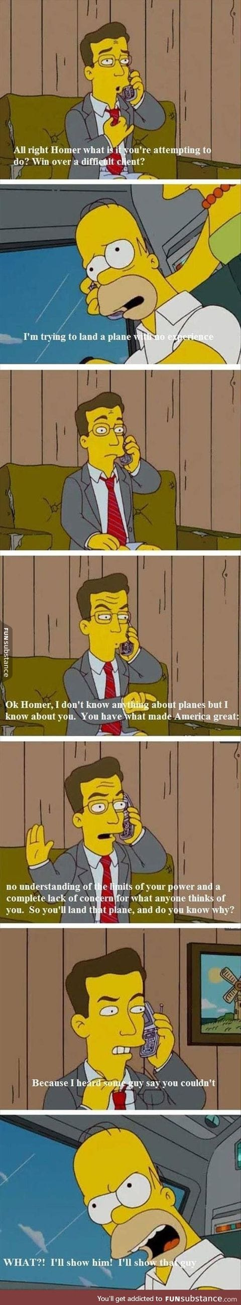 Homer is the man