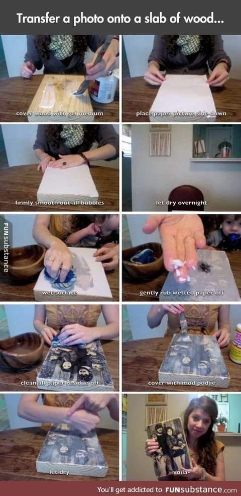 How to transfer a photo onto a piece of wood