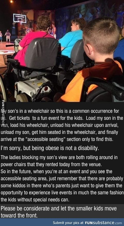 Being obese is not a disability!