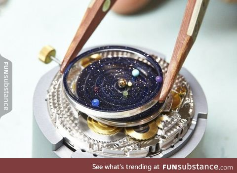 A $300,000 watch that has all the planets rotating in real-time!