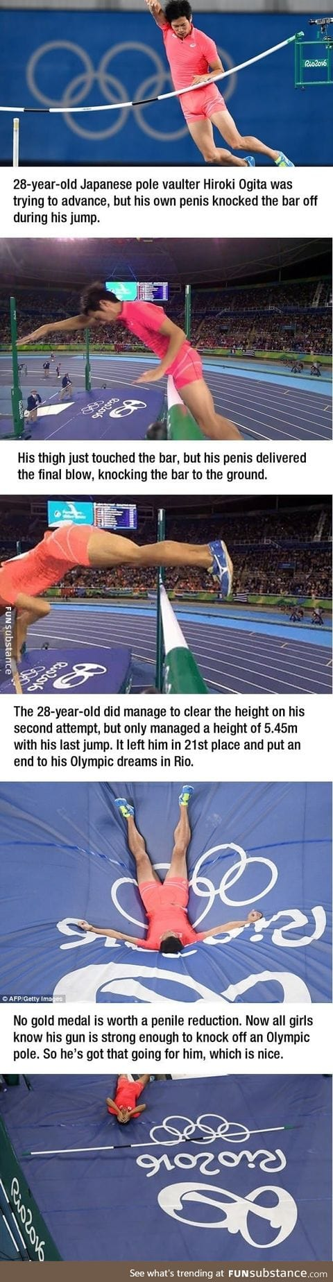 His junk crushed his Olympic Dreams