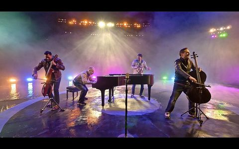 4 Guys, 3 min, 2 cellos, 1 piano, and ONE take!
