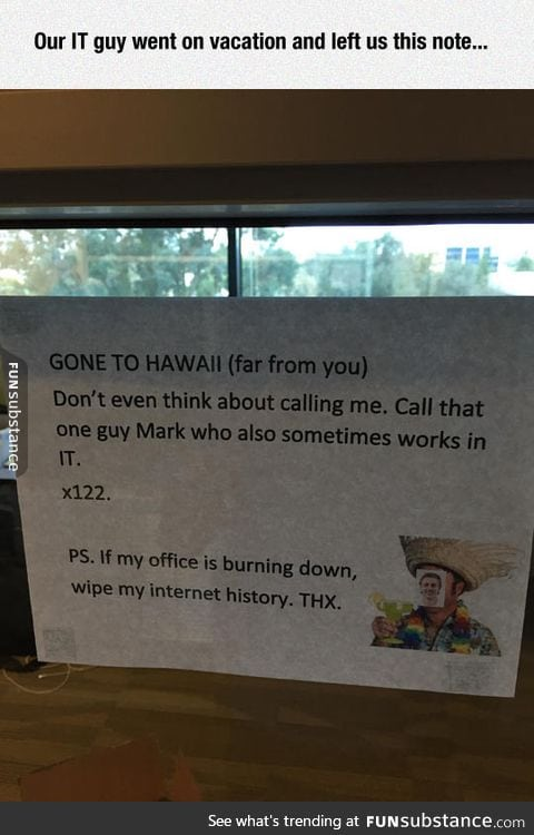 Note from the it guy