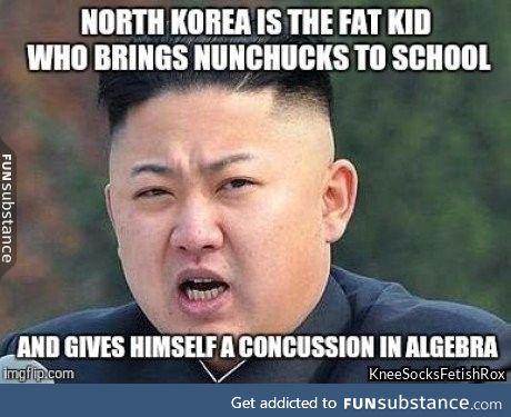 Kim jong ow!