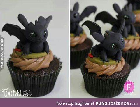 Toothless cupcakes