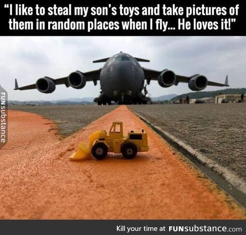 Look at that toy plane