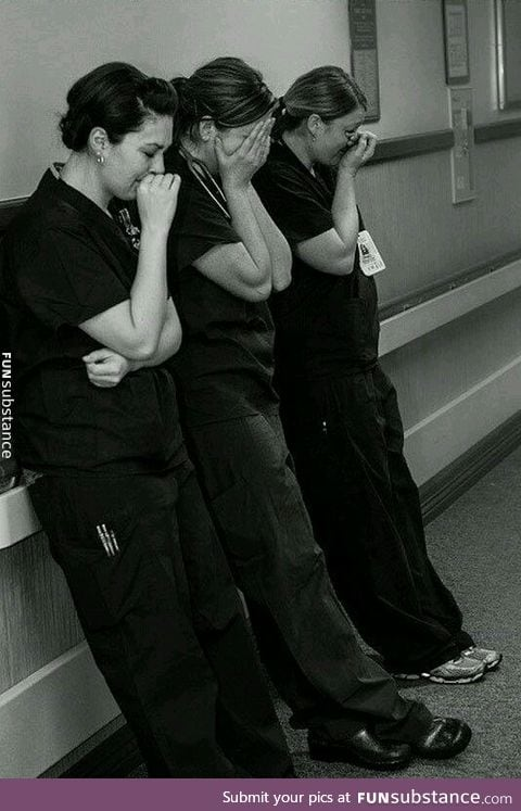 Nurses after a patient suffers a miscarriage
