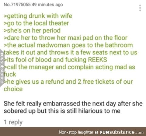 Anon goes to the theatre with his wife