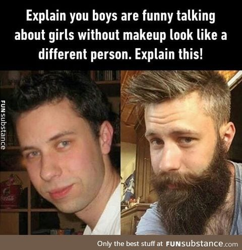 """Beard is the new """"power of make-up"""""""