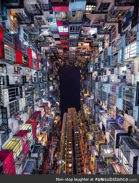 Looking up in Hong Kong
