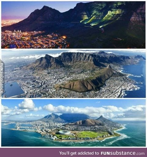 Believe it or not but this city (Cape Town) is in South Africa