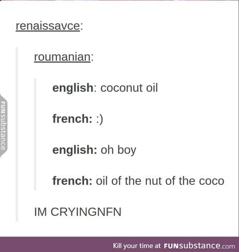 no really what's up with french
