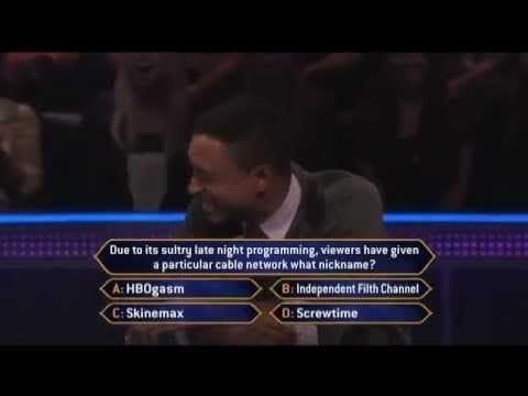 Millionaire - filthiest question & audience ever