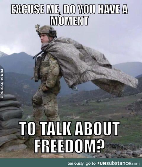 Freedom man