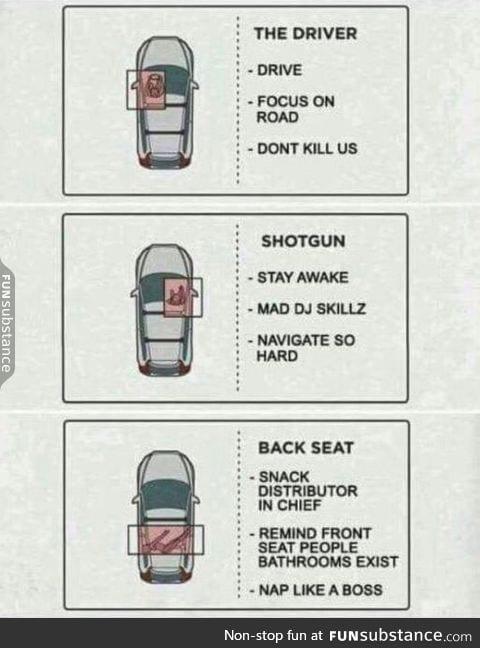 Road trip rules