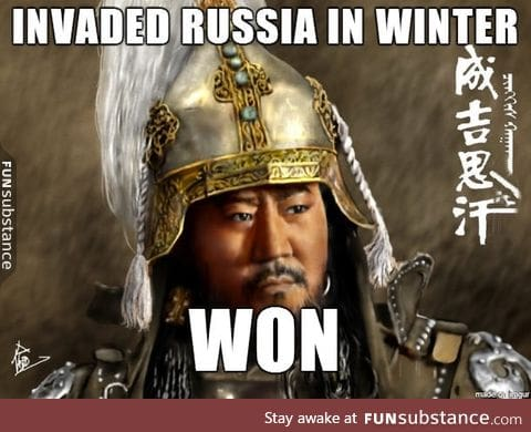 To the people who said you can't invade Russia during winter