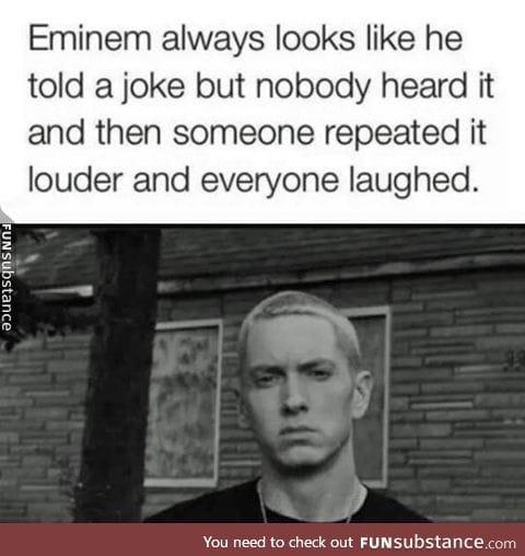 Eminem's Serious Look