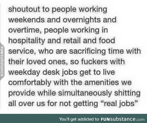 Shout out to those working overtime