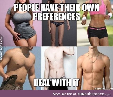 Some like it  muscular, some like it chubby, some like it skinny