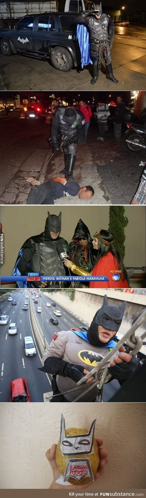 A retired police officer who fights crime during the night by himself is a real Batman