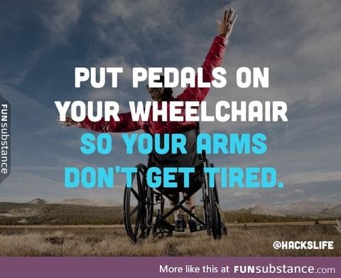 Life hack for wheelchair people