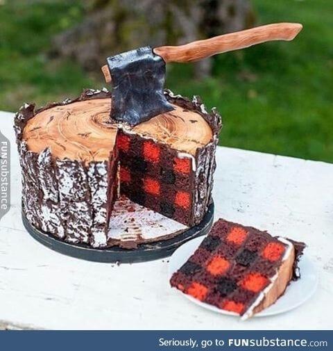 Birthday cake design for fall
