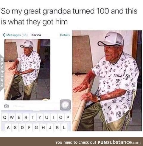 100 years old gift
