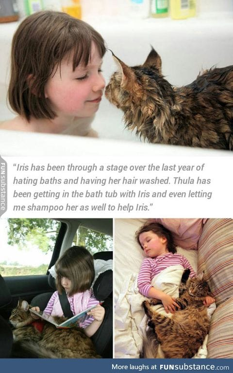 Kitty helps autistic kid with anxiety issues