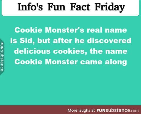 fun fact friday! I was being semi-sarcastic here but his name is/was sid