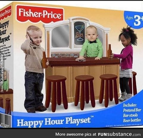 A play set we can relate to