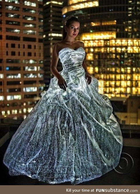 Fibre optic dresses are amazing