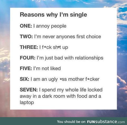 Reasons Why I'm Single