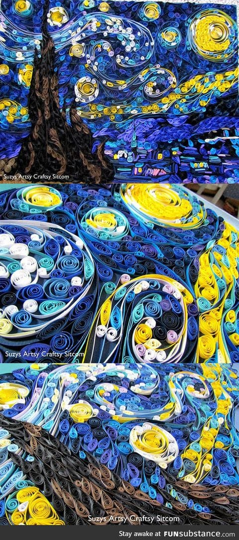 Ever seen a quilled starry night?