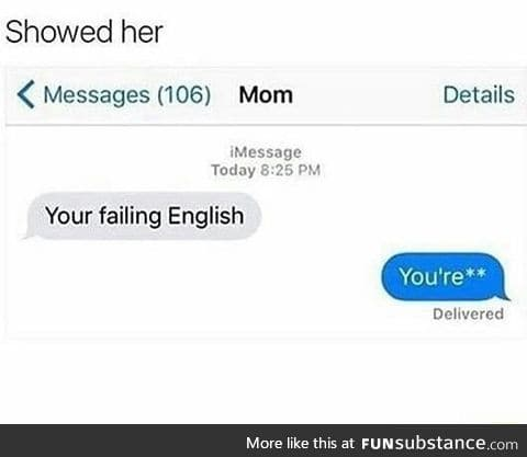 Failing english
