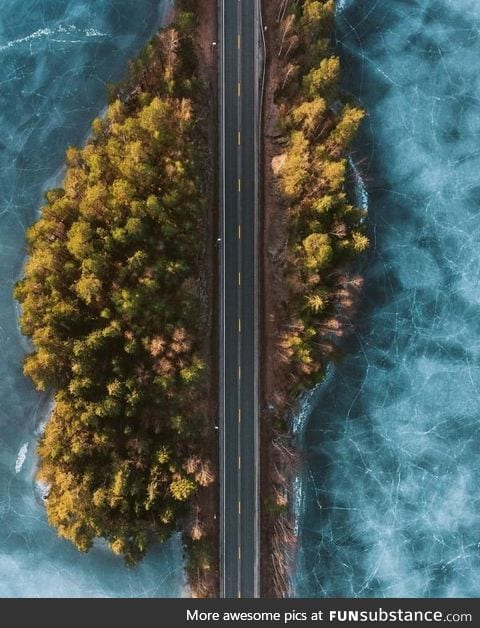 Frozen roads in Norway