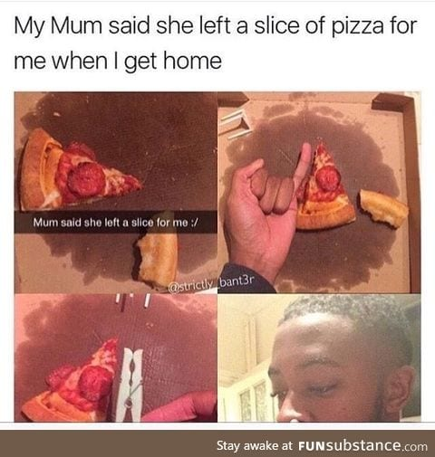 Left a slice