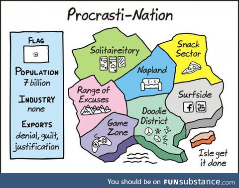 I'm A Citizen Of Procrasti-Nation
