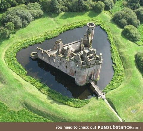 You say it's Caerlaverock Castle... I say it's the castle from Inkdeath.