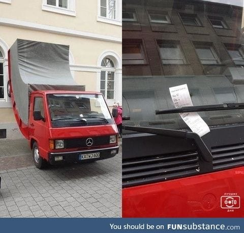 Art installation in Germany receives ticket for illegal parking