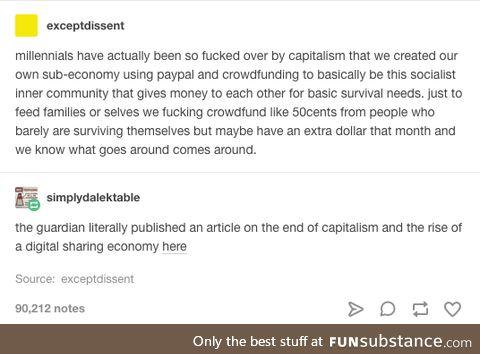 Bye bye capitalism